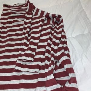 Gap Striped Oversized Long Sleeve Dress